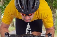 Ciclista del camino Imagen de archivo