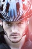Ciclista del retrato Imagen de archivo