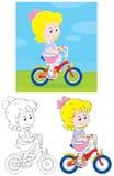 Ciclista della ragazza Immagine Stock