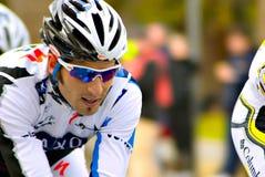 Ciclista della squadra della Banca di Saxo Fotografia Stock