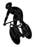 Ciclista di vettore della siluetta Fotografia Stock