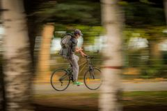 Ciclista - efeito da filtração Fotografia de Stock Royalty Free