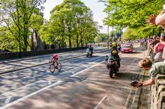 Ciclista en el viaje de Yorkshire 2018 Fotos de archivo libres de regalías