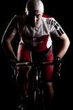 Ciclista en una bicicleta Foto de archivo