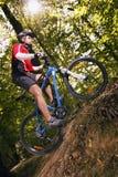 Ciclista estremo di MTB Immagine Stock Libera da Diritti