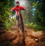 Ciclista extremo Foto de archivo libre de regalías