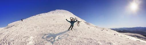 Ciclistaextremo y Goverla de Fotografía de archivo