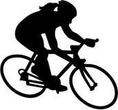 Ciclista femminile della bicicletta della bici illustrazione vettoriale