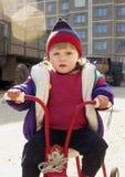Ciclista joven Foto de archivo libre de regalías