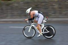 Ciclista, joven de la marca (642), filtrando técnica Fotos de archivo libres de regalías