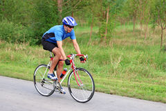 Ciclista maschio Fotografia Stock
