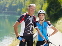 Ciclista mayor Foto de archivo libre de regalías