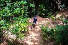 Ciclista in mountain-bike 8 Fotografie Stock