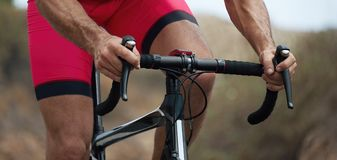 Ciclista na raça Fotos de Stock Royalty Free