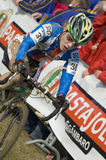 Ciclista nella corsa Fotografie Stock