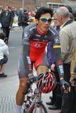 Ciclista profesional chino Foto de archivo