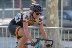 Ciclista que compete Fotografia de Stock