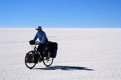 Ciclista solo Fotografía de archivo libre de regalías