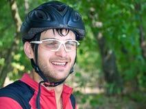 Ciclista sorridente Immagine Stock Libera da Diritti