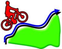 Ciclista subida Fotografia de Stock