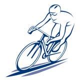 Ciclista sulla bici della strada Fotografia Stock
