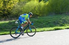 Ciclista sulla corsa della bici Fotografia Stock Libera da Diritti