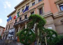 Ciclista vegetal da escultura em Montecatini, Itália Fotos de Stock Royalty Free