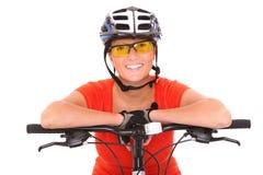 Ciclista vital Imágenes de archivo libres de regalías