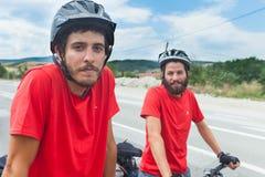 Ciclistas Foto de Stock