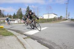 Ciclistas canadienses de los hombres Fotos de archivo libres de regalías