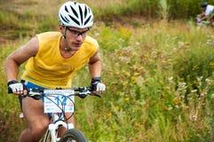 Ciclistas da competição Fotografia de Stock