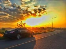 Ciclistas da manh? fotografia de stock royalty free