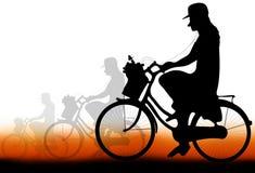 Ciclistas das mulheres Foto de Stock Royalty Free