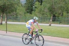 Ciclistas de ciclagem do estágio 5 do desafio dos EUA PRO Imagem de Stock Royalty Free