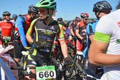 Ciclistas de la bici de montaña Fotografía de archivo libre de regalías