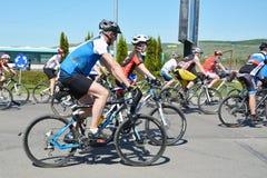 Ciclistas de la bici de montaña Fotos de archivo