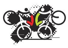 Ciclistas del estilo libre libre illustration