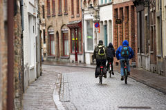 Ciclistas do estudante Foto de Stock Royalty Free