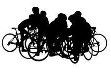 Ciclistas em férias ilustração royalty free