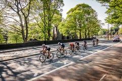Ciclistas en el viaje de Yorkshire 2018 Imágenes de archivo libres de regalías