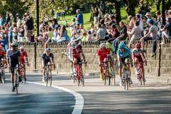 Ciclistas en el viaje de Yorkshire 2018 foto de archivo libre de regalías
