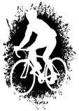 Ciclistas na estrada ilustração do vetor