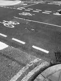 Ciclistas nas ruas de Inglaterra Foto de Stock Royalty Free