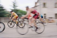Ciclistas no triathlon de Sommières 2009 Foto de Stock