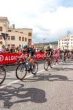 Ciclistas que competem no Giro D'Italia 2014 Fotografia de Stock Royalty Free