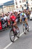 Ciclistas que compiten en el giro D'Italia 2014 Imagen de archivo
