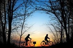 Ciclisti Immagine Stock