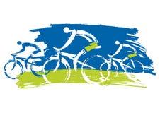 ciclisti biking all'aperto illustrazione di stock