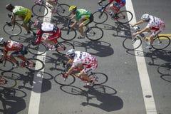 Ciclisti dilettanti degli uomini che fanno concorrenza nel circuito di corsa nazionale di Garrett Lemire Memorial Grand Prix (Nrc Fotografie Stock Libere da Diritti