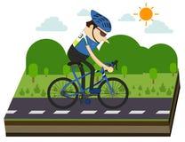 Ciclisti e corsa della bici Fotografie Stock